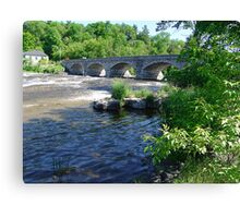 5-Span Stone Bridge Canvas Print