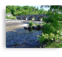 5-Span Stone Bridge Canvas Print