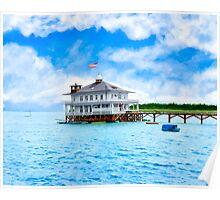 Vintage Alabama - Mobile Yacht Club - Monroe Park Poster