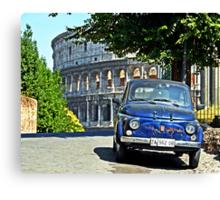 Fiat 500 at the Coliseum Canvas Print