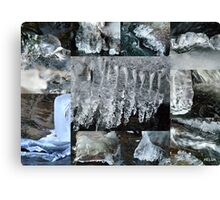 Icicle Collage Canvas Print