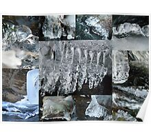 Icicle Collage Poster