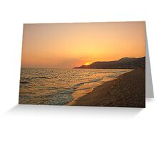 Sandy beach Greeting Card