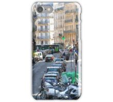 Typical Paris street view iPhone Case/Skin
