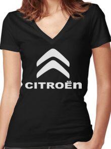Citroen Funny Geek Nerd Women's Fitted V-Neck T-Shirt