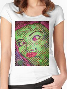 Franken`Duck-Face Women's Fitted Scoop T-Shirt
