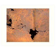 burn barrel earth Art Print