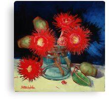 Flowering Gum Blossoms Still Life Canvas Print