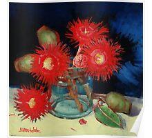 Flowering Gum Blossoms Still Life Poster