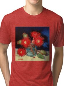 Flowering Gum Blossoms Still Life Tri-blend T-Shirt
