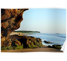 Peeking Outside the Cave - Caves Beach Poster