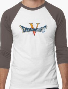Dragon Quest V (Snes) Title Screen Men's Baseball ¾ T-Shirt