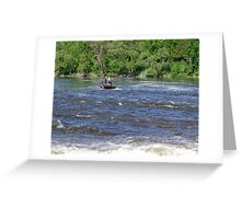 In The Rapids Greeting Card