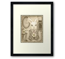 Pooka Portrait with Daffodil  Framed Print