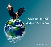 """Save our World"" Earth Day Poster by NaturePrints"
