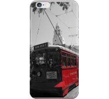 Red Car Trolley iPhone Case/Skin