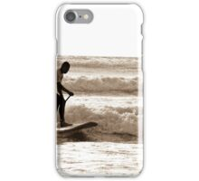 Just Surfing Paddle Board iPhone Case/Skin