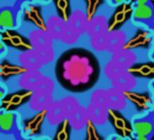 NeoGeo Floral Abstract Sticker