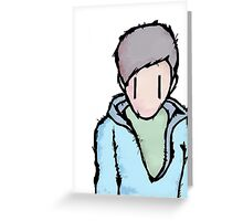the boy is alone Greeting Card
