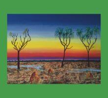 Kakadu Floodplain Sunset Kids Clothes
