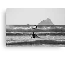 St. Finian's Bay - 'Silver Surfers' Canvas Print
