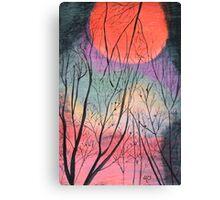 Bush Fire Moon Canvas Print