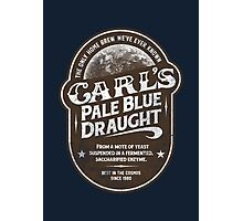 Carl's Pale Blue Draught Photographic Print