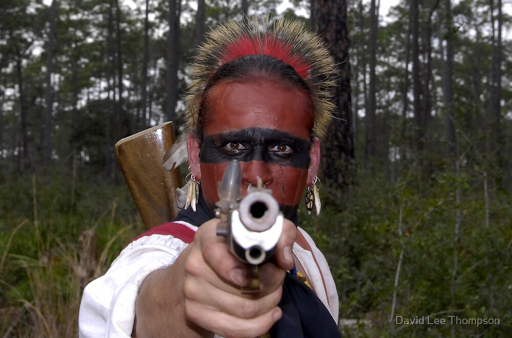 Seminole Indian On The Warpath by David Lee Thompson