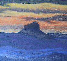 Sunset on Wilson's Peak by Wendy Sinclair