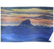 Sunset on Wilson's Peak Poster