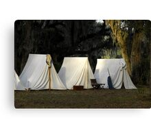 1800s US Army Tents Canvas Print