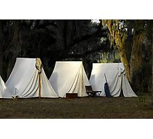1800s US Army Tents Photographic Print