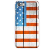 American Wooden Flag iPhone Case/Skin
