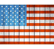 American Wooden Flag Photographic Print