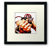 Punch of Bane Framed Print
