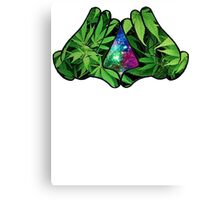 The Weed Galaxy Hands Canvas Print