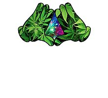 The Weed Galaxy Hands Photographic Print