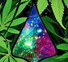 The Weed Galaxy Hands Sticker