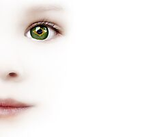 Child's Eye With The Brazilian Flag by Olga Altunina