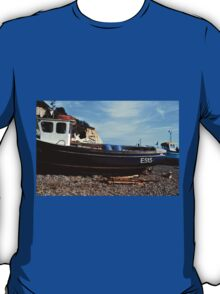 Boats on the Beach at Beer Devon UK T-Shirt