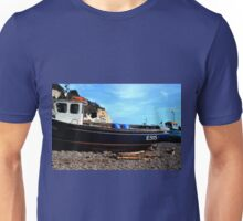 Boats on the Beach at Beer Devon UK Unisex T-Shirt