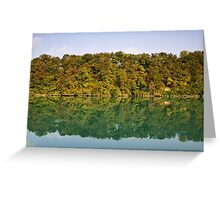 Autumn along the Rhone river Greeting Card