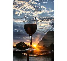 Red Wine in the Sunset Photographic Print