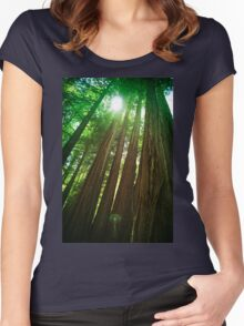Redwood Trees Women's Fitted Scoop T-Shirt