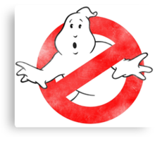 Ghostbusters - No Ghost logo Retro Canvas Print
