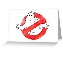 Ghostbusters - No Ghost logo Retro Greeting Card