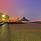 Gazebo On Pier A Hobokrn NJ by pmarella
