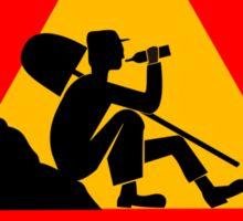 Men At Work Sign Sticker