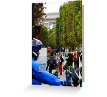 """France: """"Rush Hour in Old Paris"""" Greeting Card"""