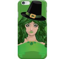 Leprechaun girl 4 iPhone Case/Skin
